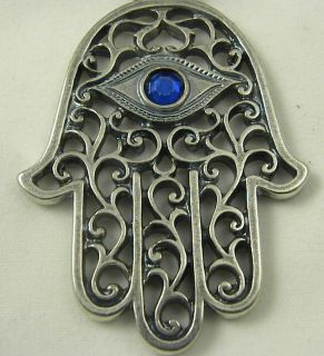 KEYCHAIN RING JUDAICA HAMSA EVIL EYE FROM JERUSALEM HOLY LAND ISRAEL