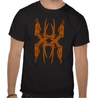 Orange Deer Skull Design T Shirts