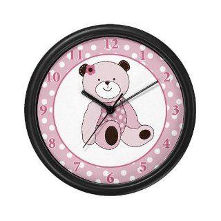 Lightweight Black Plastic Framed Pink Teddy Bear Nursery