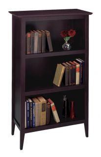New Winsome Wood Toscana Dark Brown Bookcase Shelf 30 x 13 75 x 48