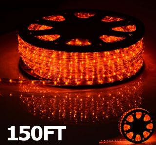 Garden Rope Light Orange 2 Wire Outdoor Home Lighting Christmas Party