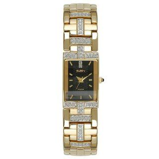 Elgin Men Gold Tone Bracelet Crytal Watch Fg1504 Watches
