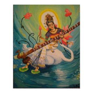 Diosa hindú del conocimiento, de la música y de los artes creativos