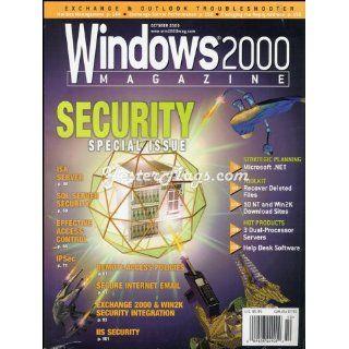 Vintage Magazine Oct 2000 Windows 2000