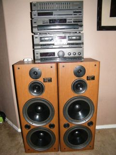 Technics Home Stereo System complete, speakers 4 10 woofers
