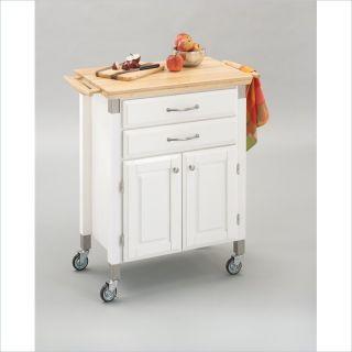 Home Styles Furniture Madison Prep Serve White Finish Kitchen Cart