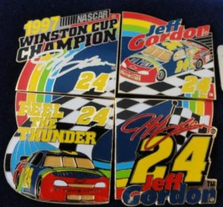 Limited Edition Jeff Gordon NASCAR 1997 Winston Cup Champion Pin Set