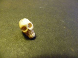 Small Skull Pendant Carved from Bone