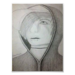 portrait of Andy Sixx, drawn by me, for you (: