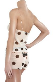 Jean Yu Polka dot silk chiffon shorts   88% Off