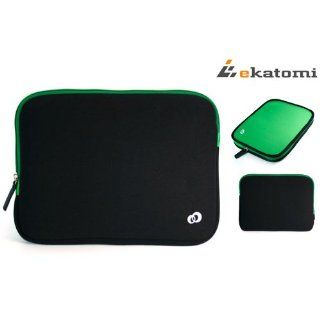 Black / Green Tablet Cover Case Bag for 10.1 Coby Kyros
