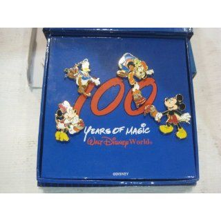 Disney Limited Edition 100 Years Of Magic 4 Piece Pin Set