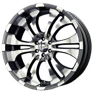 Liquid Metal Turbine Series Charcoal Mirror Machined Wheel (22x9.5
