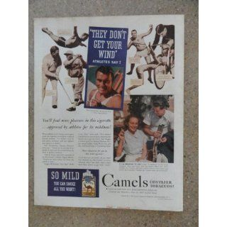 Camel Cigarees,Vinage 30s full page prin ad (golf