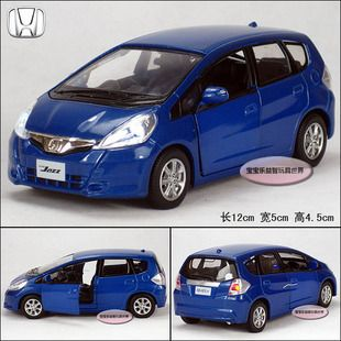 New Honda Fit 1 32 Alloy Diecast Model Car Toy With Sound Light Blue