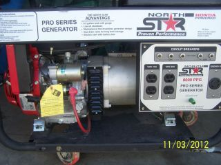 North Star Model 8000 Watt Generator w Honda GX390 Engine