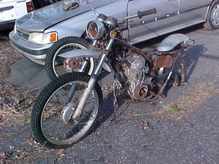 1972 HONDA 250 MOTORCYCLE FOR PARTS ONLY, VYN# ( XL250   1041772 )