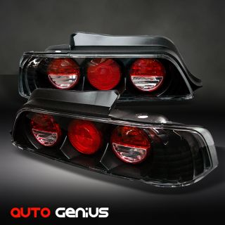 97 01 Honda Prelude JDM Black altezza Tail Lights Rear Brake Lamps