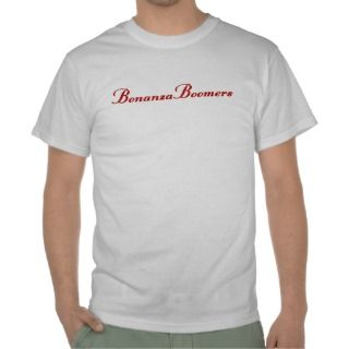 Bonanza Boomers Ladies White T with Blue writing Tees