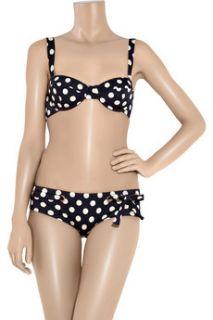 J.Crew Drew polka dot bikini top   80% Off