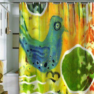 Blue Bird Shower Curtain, 69 Inch by 72 Inch