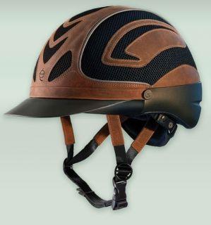 TROXEL Venture Western Riding Performance Safety Helmet Brown Black