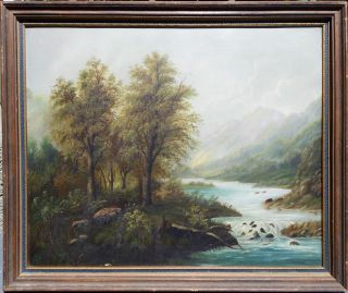 WILLIAM KEITH AMERICAN BARBIZON LANDSCAPE OIL PAINTING HOOD RIVER