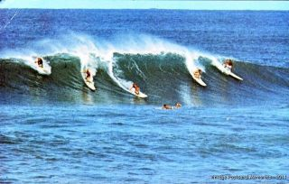 Honolulu Hi 1973 Riding The Big Wave Surfing in Hawaii Vintage Hawaii