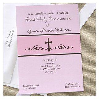 Precious Prayers Personalized Girls Communion Invitations
