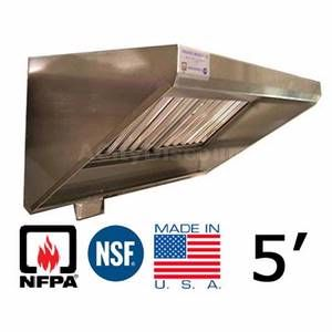 Superior Hoods CS30 4 60 5 ft Stainless Steel Concession Grease Hood