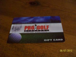 50 Pro Golf Discount Gift Card Western Washington or San Diego