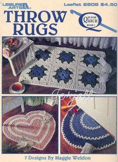 Throw Rugs Quick Q Hook Crochet Patterns