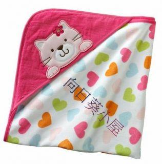 Carters Infant Toddler Cat Hooded Bath Towel