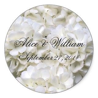 White Hydrangea Wedding Invitation, Square