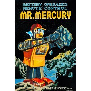 Battery Operated Remote Control Mr. Mercury 12X18 Art