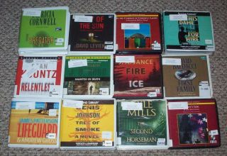 Lot 95g 12 Unabridged Mystery Thriller Fiction Audiobooks CD