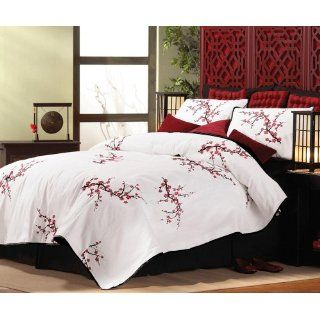 Asian Bedroom Cherry Blossom Pillow Sham Set By
