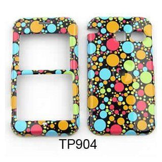 Rainbow Polka Dots & Circles Snap on Cover Faceplate for