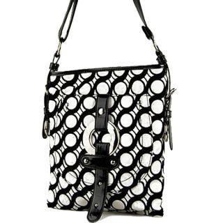 Fashion Designer Inspired Hoops Design Messenger Crossbody Sling