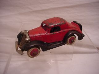 Vintage Cast Iron Toy Car Dent Hubley Champion Coupe All Original 1920