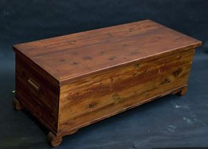 Lovely Old Vintage 1920s Solid Cedar Hope Chest