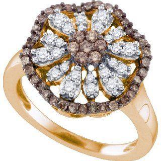 73 Carat Chocolate Brown And White Diamond 10K Rose Gold Womens