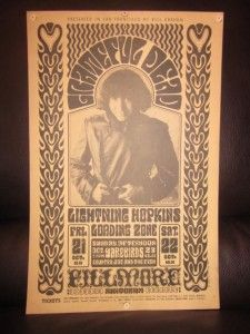 Original Grateful Dead Jerry Garcia Bill Grahm Fillmore West Concert