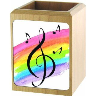 Out of the Basement Designs Wood Pencil Cup   Rainbow G