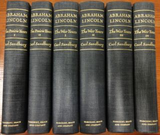 Signed Carl Sandburgs Abraham Lincoln Biography Set Praire War Years