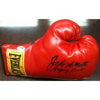 Jake LaMotta Signed Boxing Glove Raging Bull PSA COA