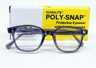 Vintage American Optical Horn Rimmed Safety Glasses New in Box Smoke