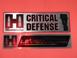 Hornady Ammunition Reflective 2 Two Decals Stickers Pistol Rifle Ammo