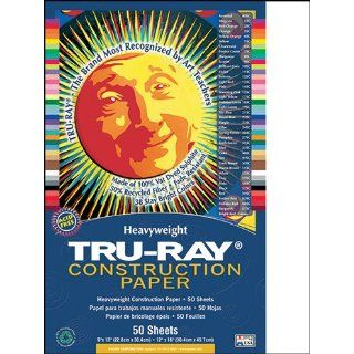 Pacon 103058   Tru Ray Construction Paper, 76 lbs., 12 x