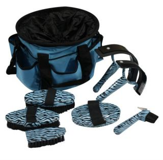 Piece Zebra Print Horse Grooming Kit w/ Nylon Carrying Bag NEW TACK